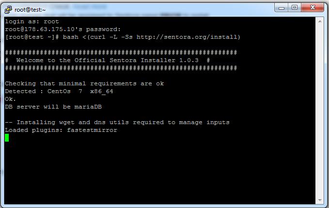 Come installare Sentora su CentOS7