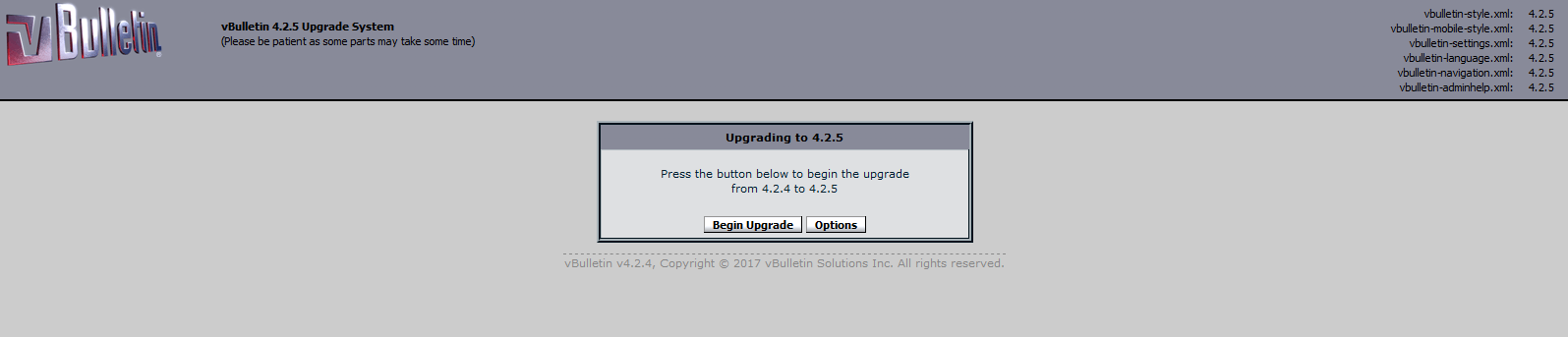 Come fare l'upgrade di vBulletin 4