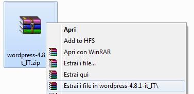 Immagine della guida Come installare manualmente WordPress del sito Cionfs.it
