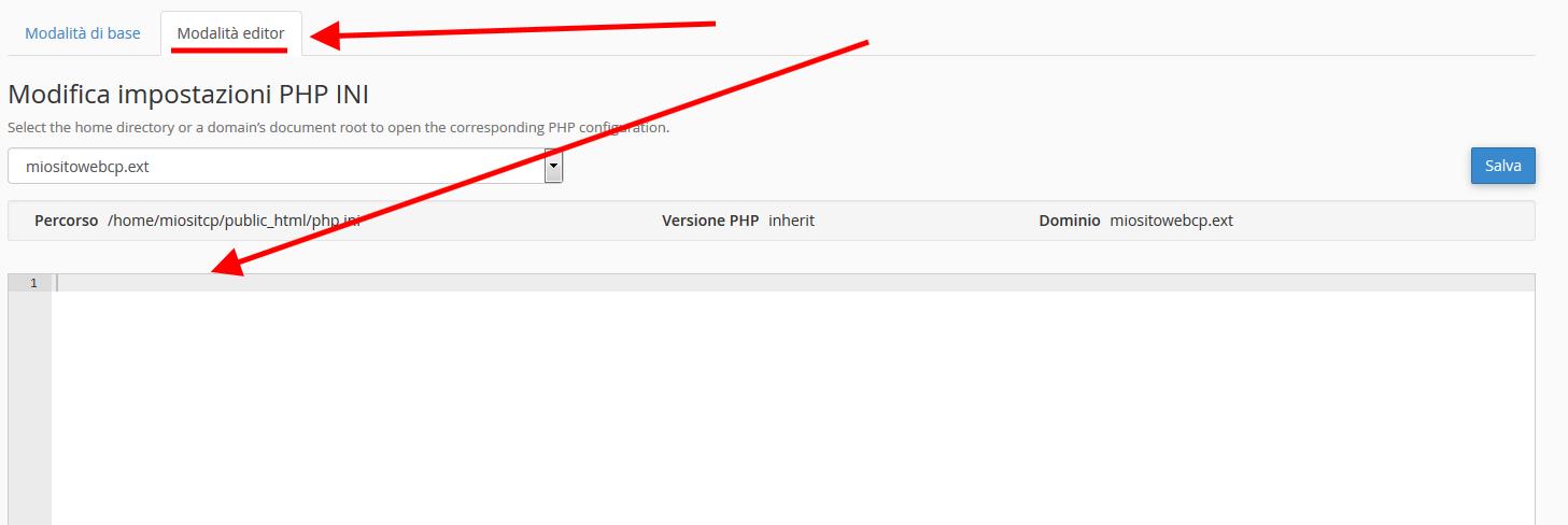 Come aumentare l'upload nel PHP.ini di cpanel