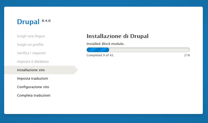 Come installare Drupal