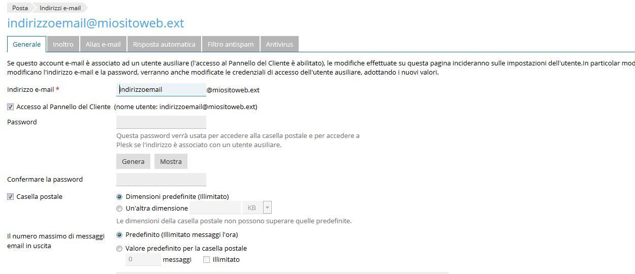 Immagine della guida Come creare un alias email del sito Cionfs.it