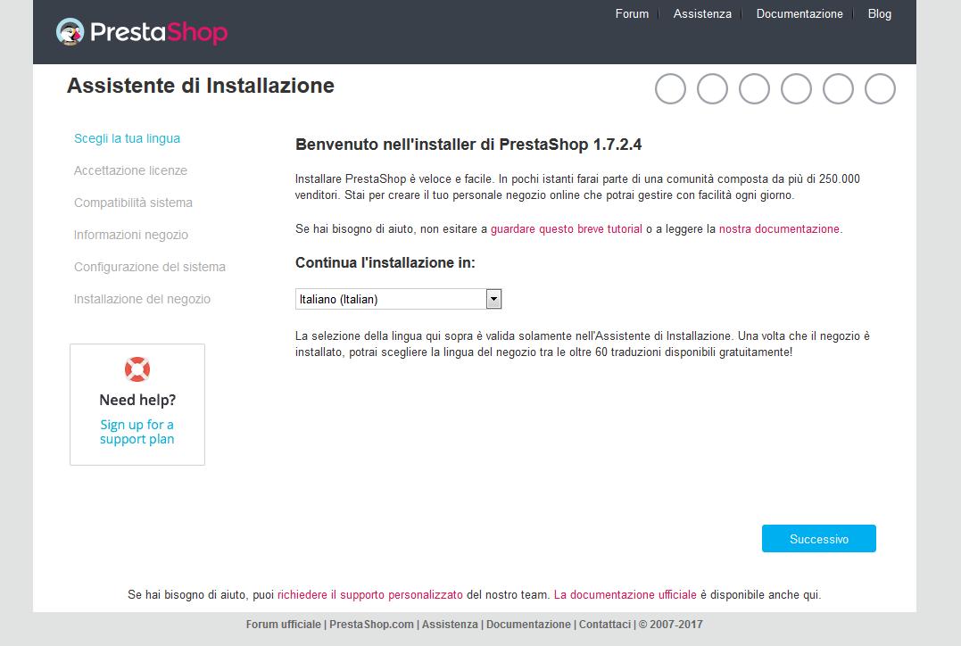 Come installare manualmente Preshashop 1.7