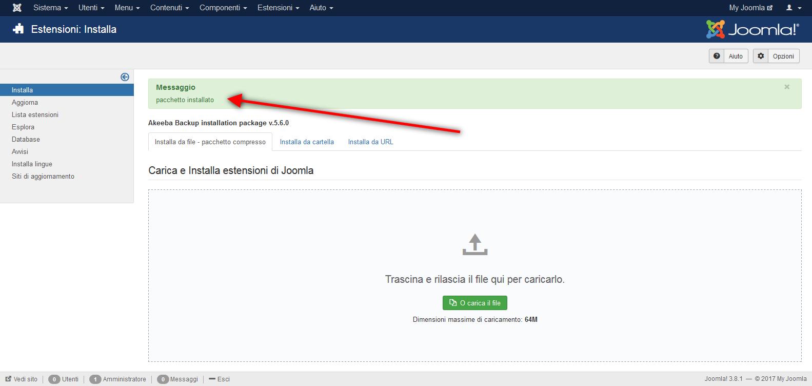 Come installare un componente su Joomla!