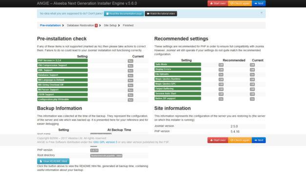 Guida – Come trasferire un sito Joomla! con Akeeba da un hosting ad un altro