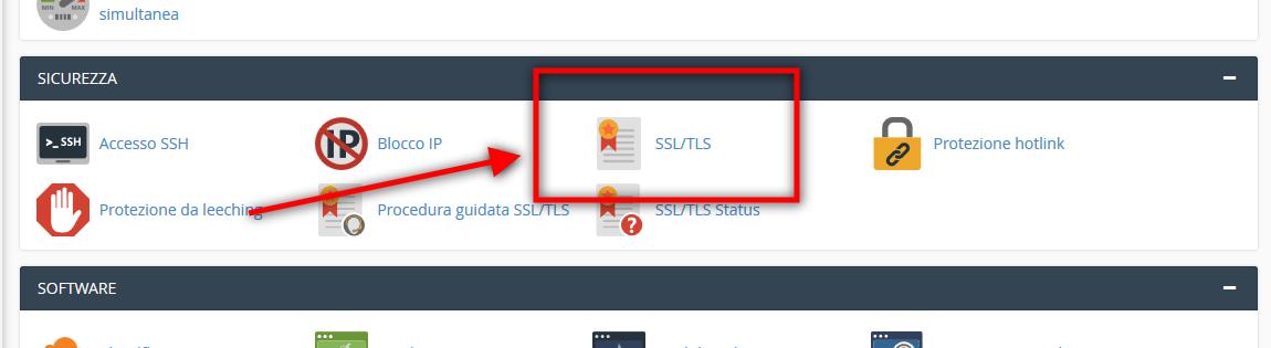 Immagine della guida Come installare il certificato SSL su CPanel del sito Cionfs.it