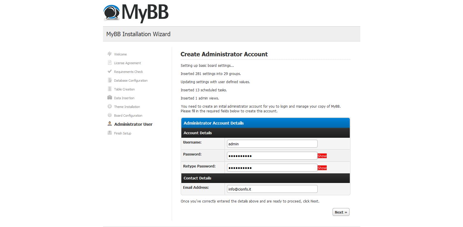Come installare MyBB (installazione manuale)