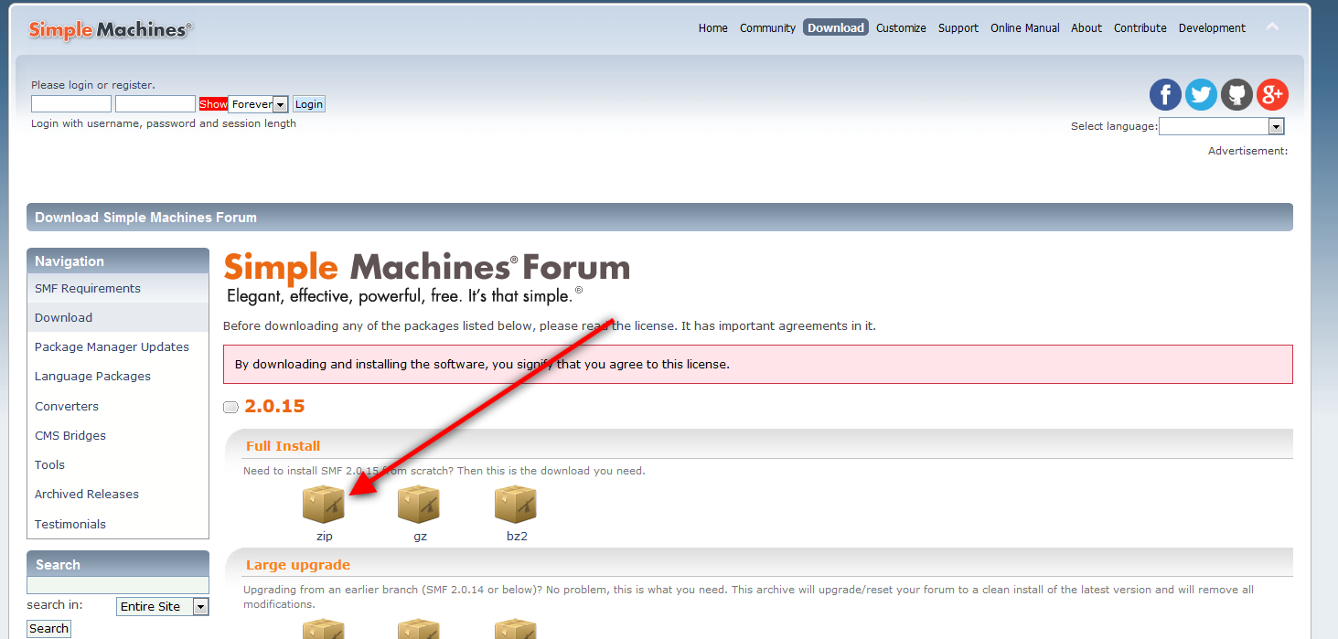 Come installare SMF (Simple Machine Forum)