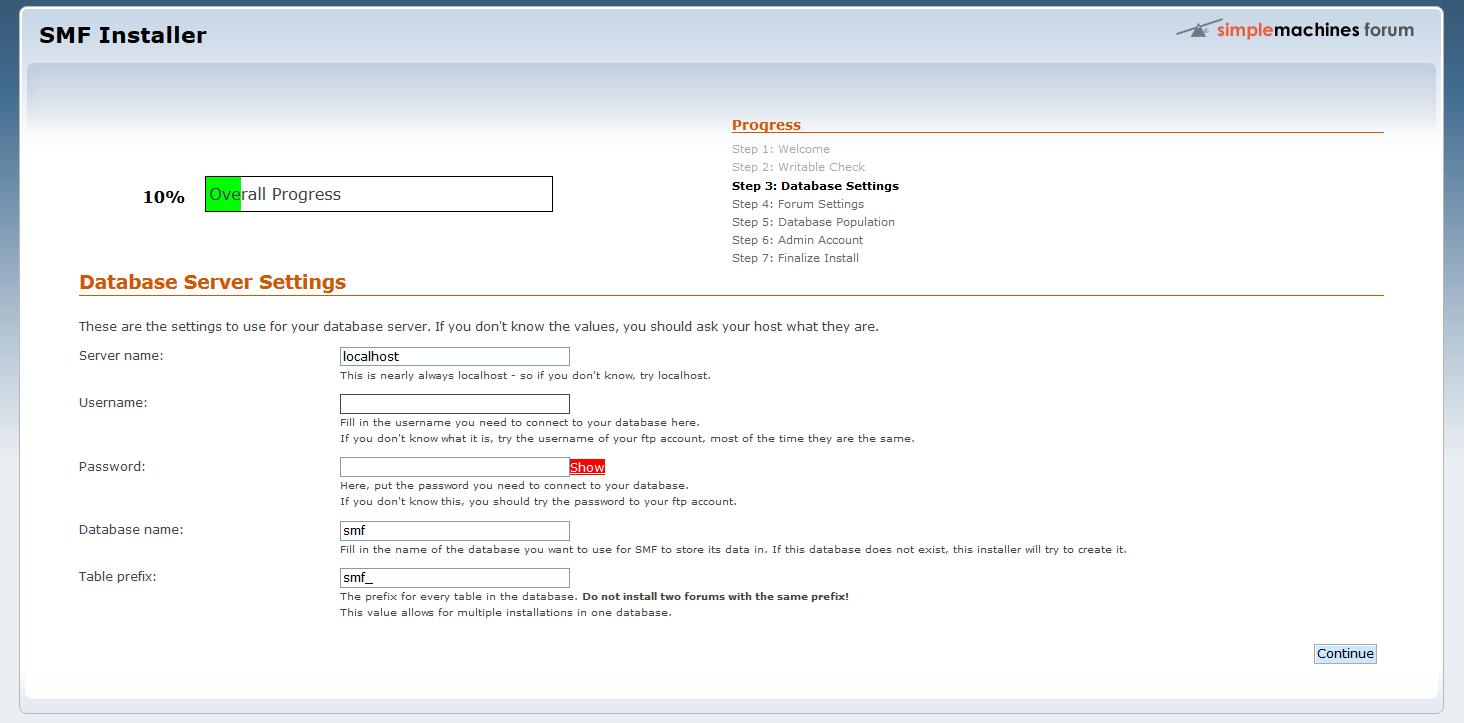 Immagine della guida Come installare SMF (Simple Machine Forum) del sito Cionfs.it