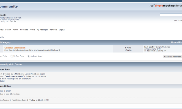 Come installare SMF (Simple Machine Forum)