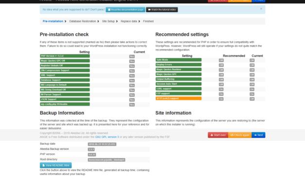 Come spostare un sito WP con akeeba backup