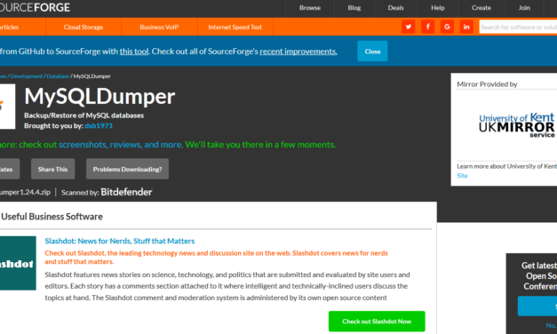 Come ripristinare un database con mysqldumper