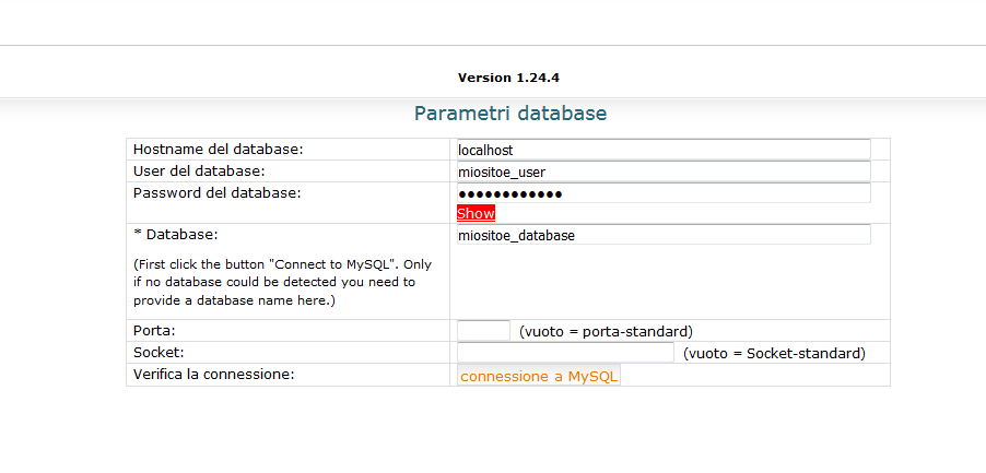 Come fare un backup con MySQLDumper