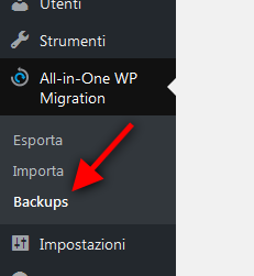 Come copiare un sito con All In One Migration
