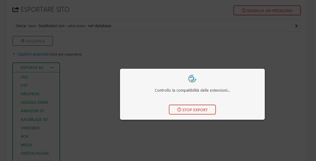 Immagine della guida Come copiare un sito con All In One Migration del sito Cionfs.it