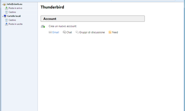 Come configurare la mail su ThunderBird su PC