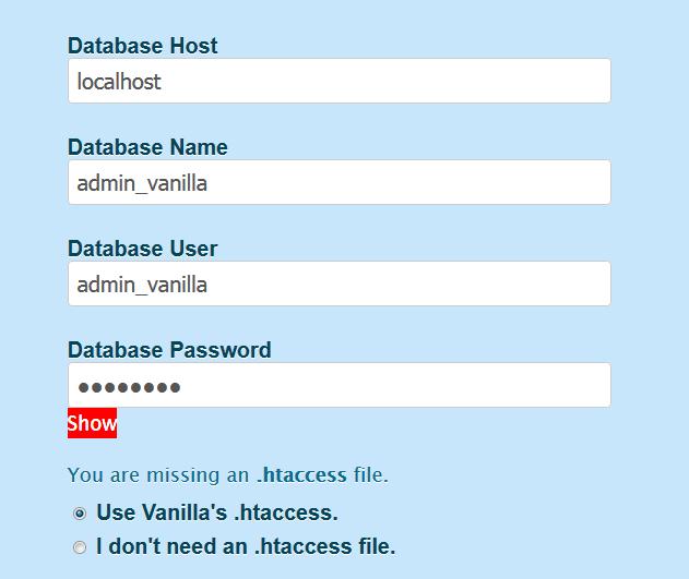 Immagine della guida Come installare Vanilla Forum del sito Cionfs.it