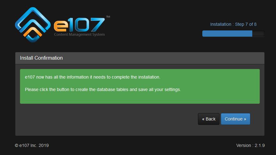 Come installare E107