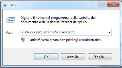 Come modificare il file host su windows