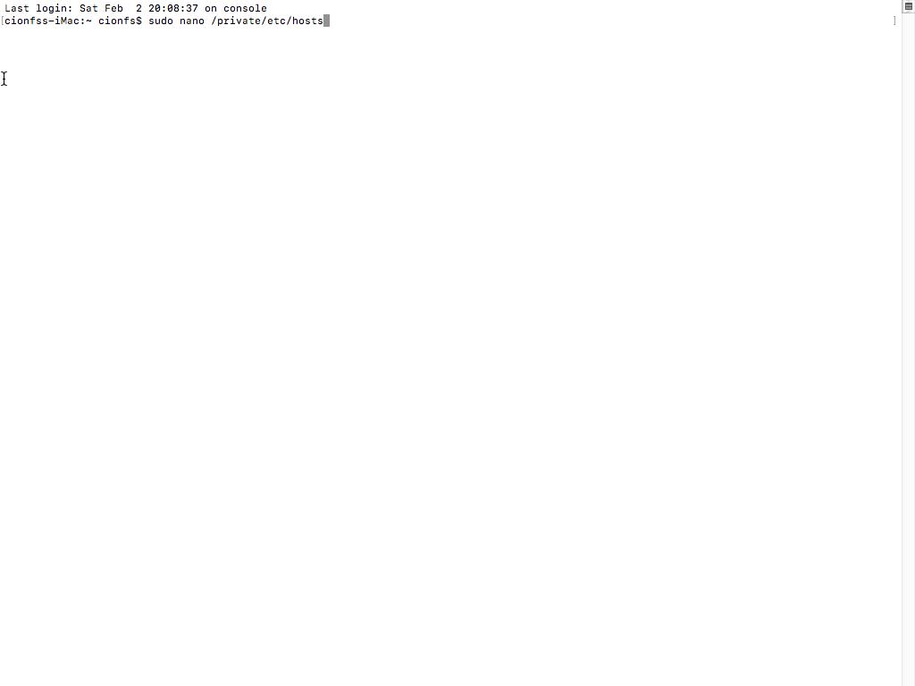 Immagine della guida Come modificare il file host su MAC del sito Cionfs.it