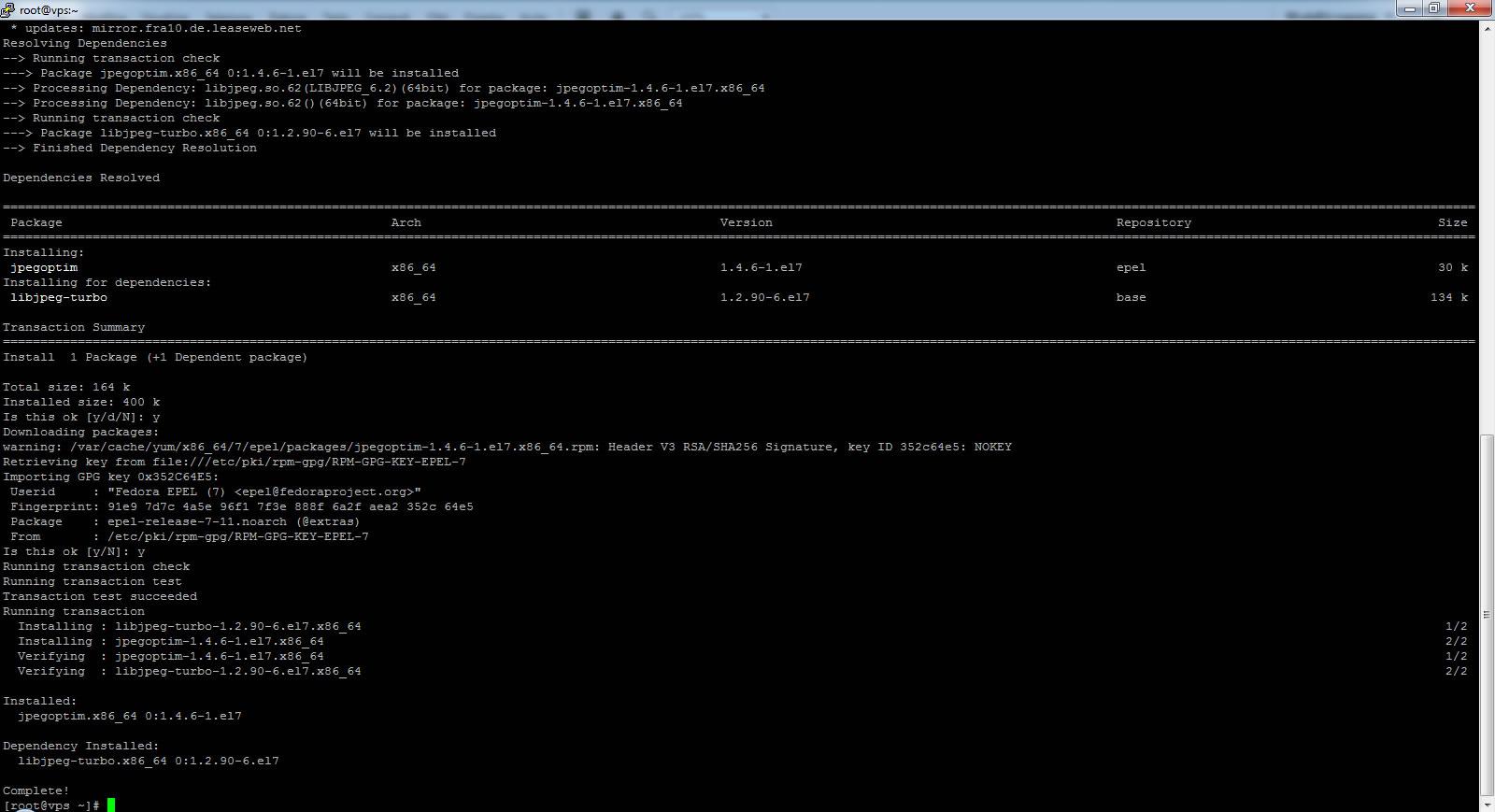Ottimizzare e comprimere JPG e PNG da ssh (shell)