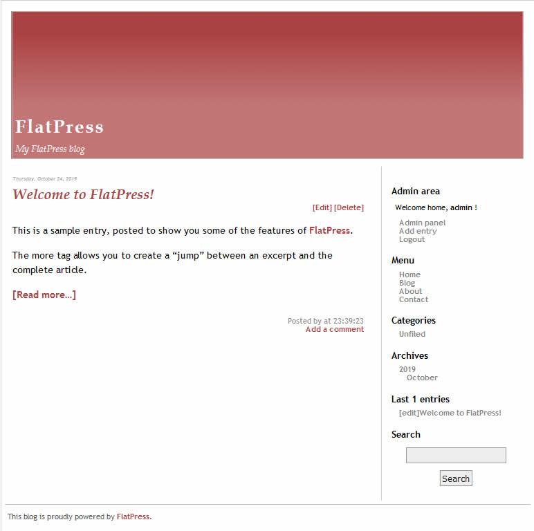 Come installare FlatPress