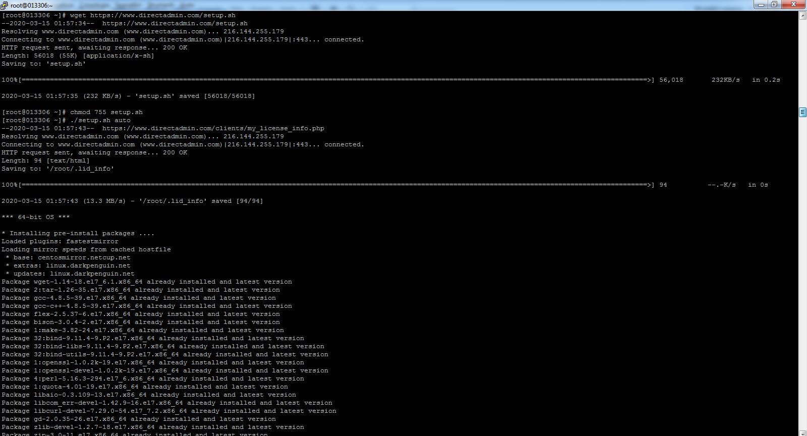 Immagine della guida Come installare DirectAdmin del sito Cionfs.it