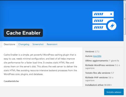 Immagine della guida Cache Enabler del sito Cionfs.it