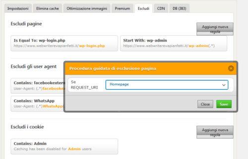Immagine della guida WP Fastest Cache del sito Cionfs.it
