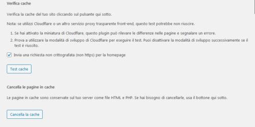 Immagine della guida WP Super Cache del sito Cionfs.it